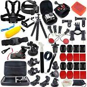 Action Camera Accessories Kit For Gopro Hero 7 6 5 4 3+ 3 Hero Session 5 Black