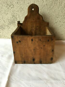 Antique Primitive 19th C. Hand Made Candle Box