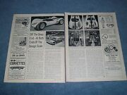 1963 Brooks Stevens Lincoln Powered Racing Sports Car Vintage Article