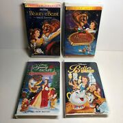 Beauty And The Beast 1 And 2 Special Edition + Enchanted Christmas Belle Vhs Disney
