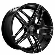 4 20 Staggered Lexani Wheels Bavaria Black With Machined Accents Rims B41
