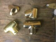 4 Misc. Stantion Boat Parts Polished Brass