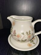 Marks And Spencer Large Milk Jug With Stand Vintage Autumn Leaves Collection