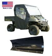 5ft Snow Plow And Full Enclosure Combo For Polaris Ranger - Hard Windshield Model
