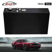 18.5gallon Black Race Fuel Cell Gas Tank W/ Cap And Level Sender Polished Aluminum