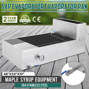 2'x4' Maple Syrup Pan W/water Tank Sap Evaporator Boiling Pan Dial Thermometer