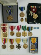 Us Military Medals Lot Army/navy/guard/airforce Ref3072