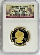 2011 W Gold 10 Lucy Hayes 3868 Minted Spouse 1/2 Oz Proof Coin Ngc Pf 70 Uc