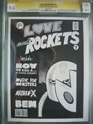 Love And Rockets 1 Cgc 9.6 Ss Signed And Sketch Jaime Hernandez 1st App Izzy