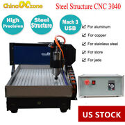 Steel Cnc 3040 Engraving Machine 3axis Router Mach3 Cutting Milling Engraver Us