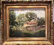 The Chenil Gallery Chelsea Early 1900and039s Christies Stamp Old Master Oil Painting
