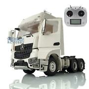 Lesu 1/14 Rc 66 Metal Chassis Radio Hercules Actros Cabin Tractor Truck Light