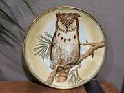 Great Horned Owl Vintage Collector Plate 1972 By Vicente Tiziano