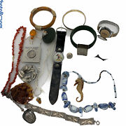 20- Resellers Lot Vintage Estate Junk Drawer Lot Jewelry Sterling Coin Rare 001