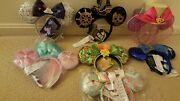 Disney Minnie Mouse The Main Attraction January To July Ears 7x Lot Bnwt