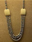 Rare One-of-a-kind Sw American Indian 3- Strand Andldquocolors Of Cornandrdquo Necklace