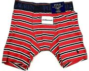 Polo Mens Traditional Leg Length Striped Boxer Brief Size S   A1