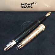 Mont Blanc Fountain Pens 145 Solitaire Geometry Champagne Gold