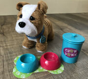 American Girl Pet Meatloaf With Treats And Eats Set - Retired Dog Food Bowls