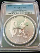 2017 Niue Steamboat Willie-pcgs Ms69-1oz .999 Silver