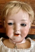 """Antique German 20"""" Armand Marseille 590 Character W/fully Jointed Compo Body"""