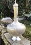 Antique/vintage Persian Chased Silver Decanter Qajar Islamic Middle Eastern