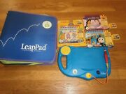 My First Leappad System With Case And 3 Books And Cartridges Works Leap Pad 1 New