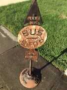 Police Stop Sign 1930s