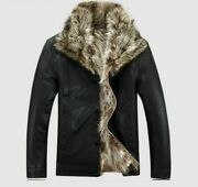 Fur Coat Menand039s Winter Warm Jacket Fashion Style Outerwear Comfy Soft Men Jackets