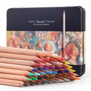 Pencil Drawing Watercolor Water Soluble Wooden Colored Pencil Oil Pencil Tin Box