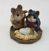 Vtg Wee Forest Folk 1984 Christmas Chris-mouse Pageant Wff Nativity Mouse