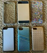 Iphone 7 Case Lot Clear Gold Blue Silver Multi Color Designs Protective Skins