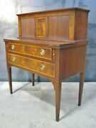 Mahogany Hepplewhite Style Federal Writing Desk By High-end Maker Beacon Hill