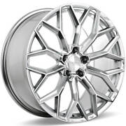 4 22 Ace Alloy Wheels Aff03 Liquid Silver With Mirror Machined Face Rimsb44