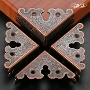34mm Triangle Corner Wooden Box Antique Iron Furniture Protector Pattern Carved