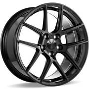 4 22 Staggered Ace Wheels Aff02 Gloss Black Rimsb44