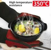 Bbq Gloves Heat Resistant Oven Glove Barbecue Grill Oven Mitts Hot Safe Griling