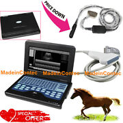 Veterinary Portable Ultrasound Scanner Machin Cow/horse/animal Rectal+convex Use