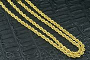 21k Yellow Gold Rope Chain Necklace 20.6 Grams 26.5andrdquolong