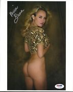 Michelle Baena Signed 8x10 Photo Playboys Hottest Housewives Psa Dna Coa