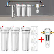 Three Stage Whole House Water Filter System 10x 2.5, Spin Down Sediment Filter