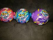 Pikmi Pops Bubble Drops - Neon Wild Series Collect Them All Lot Of 3