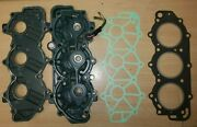 Used Cylinder Head And2 New Gaskets Yamaha Outboard 25 40 50 Hp 2 Stroke 6h4 And03984