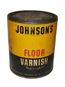S.c. Johnson And Son Johnsonand039s Floor Varnish 1938 Unopened Nos Advertising Can