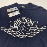 Air Dior Navy Sweater Authentic New With Tags Receipt Shopping Bag Rare