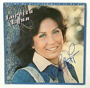 Loretta Lynn Autograph Signed Out Of My Head And Back In My Bed Album Record L