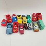 Disney Pixar Cars Huge Lot Of 15 Cars All Differnt Most Diecast Great Collection