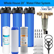 3-stage Big Blue 20 Whole House System ,gac,sediment,carbon , Water Pre Filters
