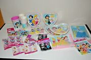 Large Lot Disney's Princess's Complete Party Supplies-paper Goods Toys And More