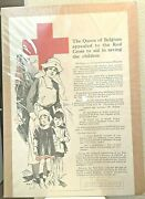 Antique A T F Bulletin No 8 War Council American Red Cross Poster Save Children